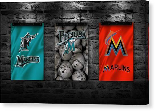 Miami Marlins Canvas Print - Miami Marlins by Joe Hamilton