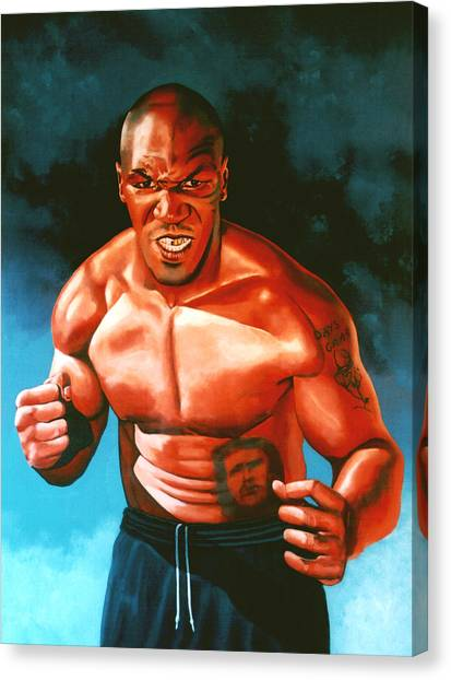Boxers Canvas Print - Mike Tyson by Paul Meijering