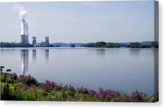 Nuclear Plants Canvas Print - 3 Mile Island by Kathy Churchman