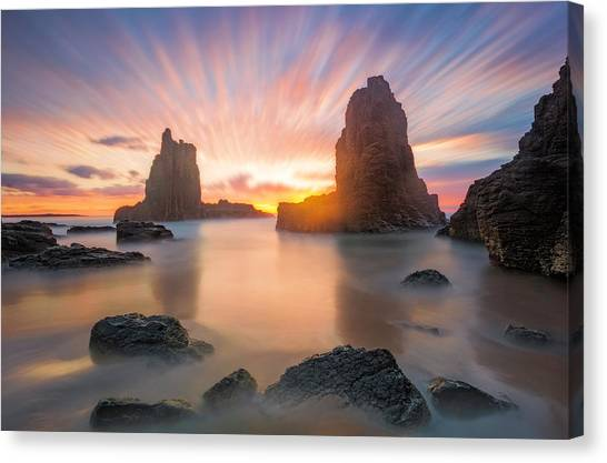 Cathedrals Canvas Print - 3 Minutes by Jingshu Zhu