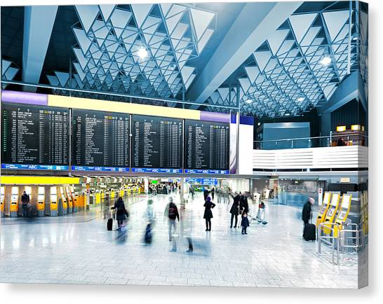 Modern Airport Canvas Print by Nikada