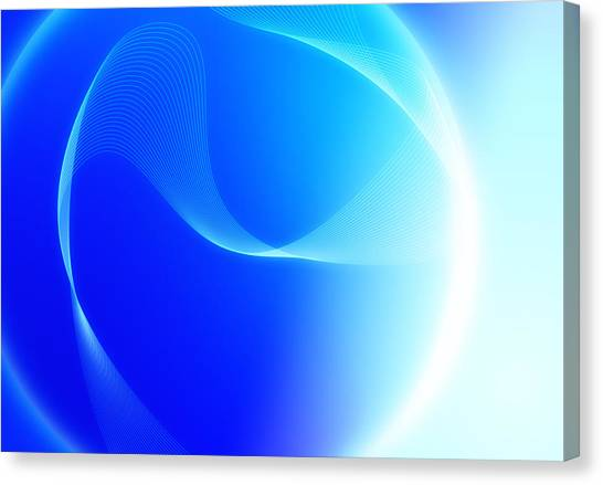 Modern Blue Abstract  Canvas Print