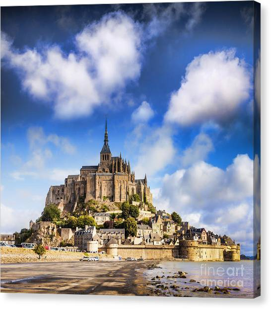 Mont St Michel Normandy France Canvas Print