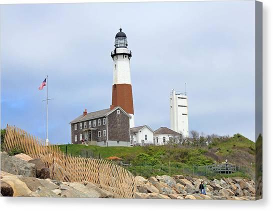Montauk Lighthouse Long Island New York Canvas Print