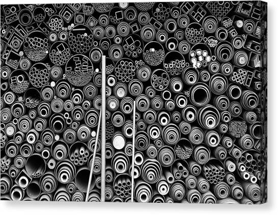 Metal Canvas Print - 3 More Pipes by Donghee, Han