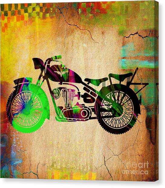 Retro Canvas Print - Motorcycle by Marvin Blaine