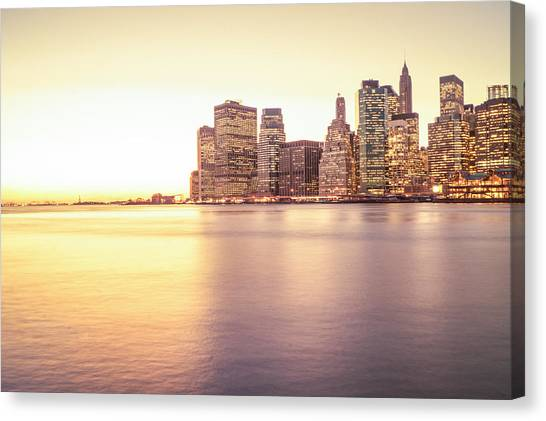 City Sunsets Canvas Print - New York City by Vivienne Gucwa