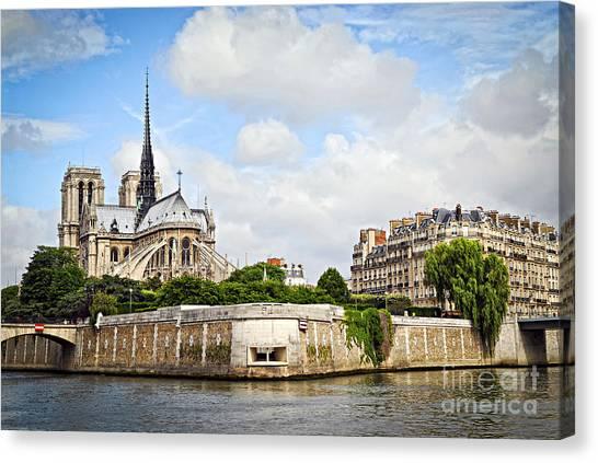 University Canvas Print - Notre Dame De Paris by Elena Elisseeva