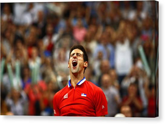 Novak Djokovic Canvas Print - Novak Djokovic by Srdjan Petrovic