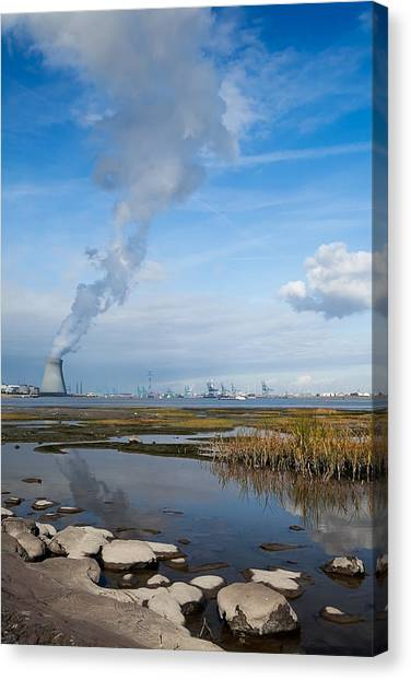 Nuclear Plants Canvas Print - Nuclear Power Plant by Dirk Ercken