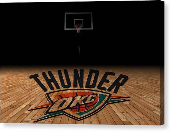 Oklahoma State University Canvas Print - Oklahoma City Thunder by Joe Hamilton