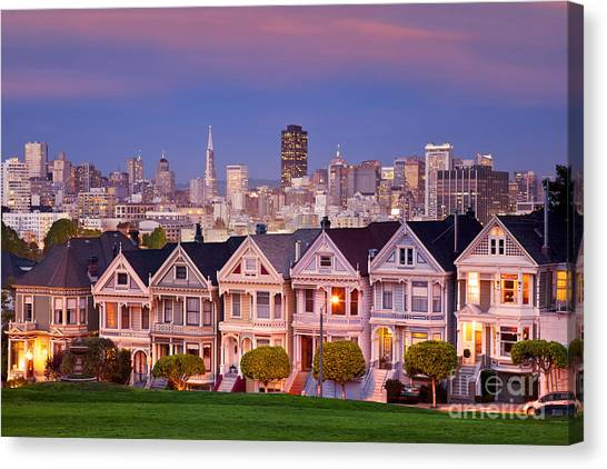 Canvas Print featuring the photograph Painted Ladies by Brian Jannsen