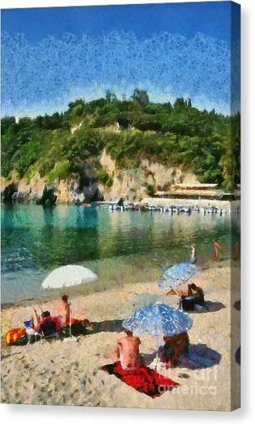 Paleokastritsa Beach Canvas Print