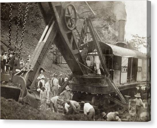 Backhoes Canvas Print - Panama Roosevelt, C1906 by Granger