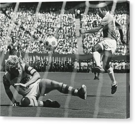 World Cup Canvas Print - Pele by Retro Images Archive