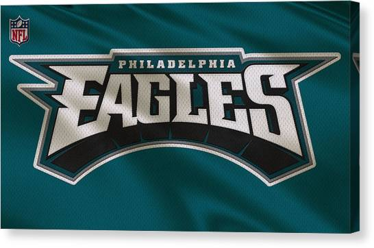 Philadelphia Eagles Canvas Print - Philadelphia Eagles Uniform by Joe Hamilton
