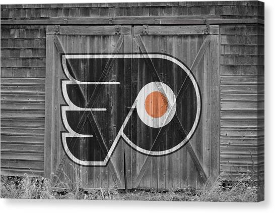 Flyer Canvas Print - Philadelphia Flyers by Joe Hamilton