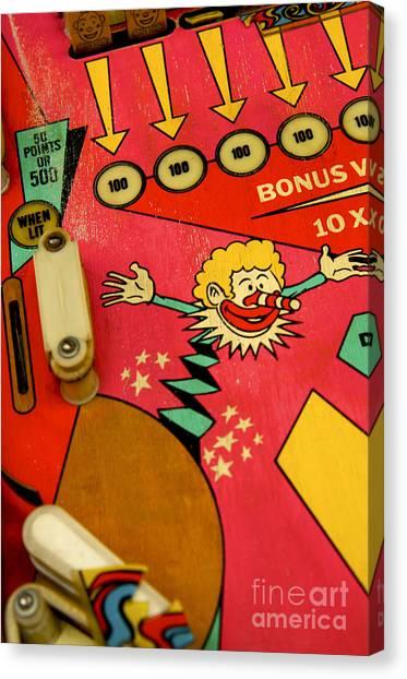 Flipper Canvas Print - Pinball Machine by Bernard Jaubert