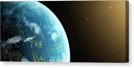 Planet Earth Canvas Print by Sciepro