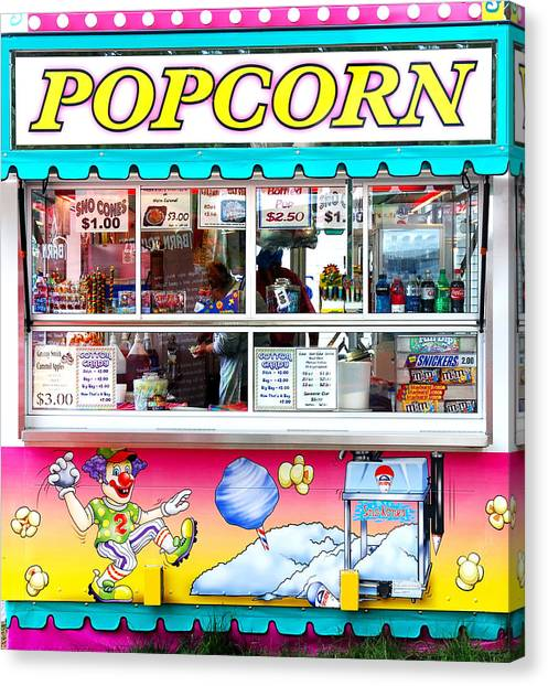 Popcorn Canvas Print - Popcorn Stand by Jim Hughes