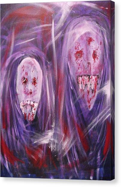 Portrait Of A Vampire Canvas Print by Randall Ciotti