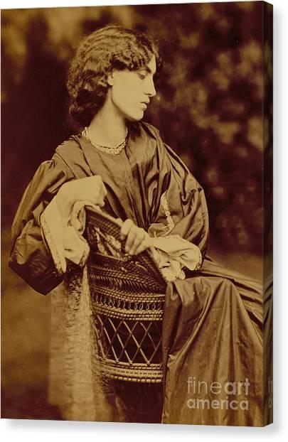 Victorian Garden Canvas Print - Portrait Of Jane Morris by John Parsons