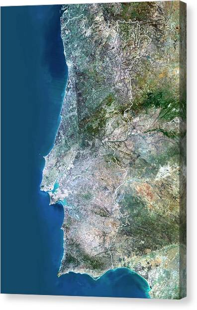 Portugal Canvas Print by Planetobserver/science Photo Library