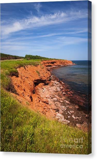 Ocean Cliffs Canvas Print - Prince Edward Island Coastline by Elena Elisseeva