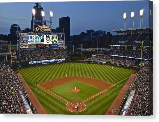 Cleveland Indians Canvas Print - Progressive Field by Frozen in Time Fine Art Photography