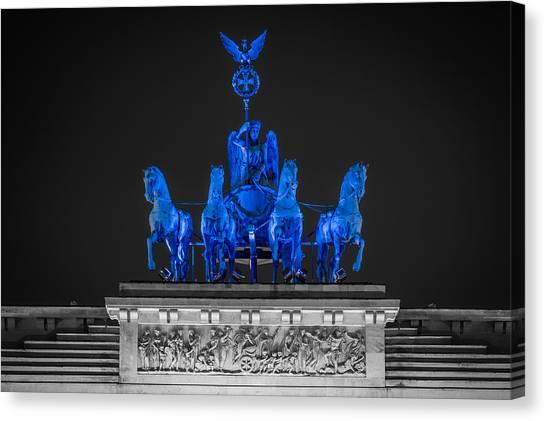 Robert Frank Canvas Print - Quadriga In Blue by Robert Frank