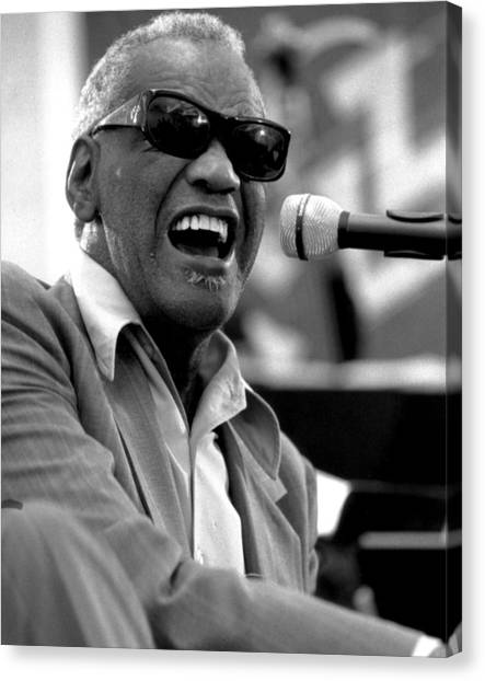 Rhythm And Blues Canvas Print - Ray Charles by Retro Images Archive