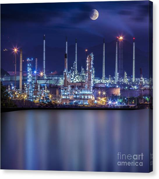 Refinery Industrial Plant  Canvas Print