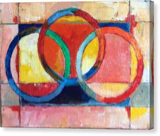 3 Rings II Canvas Print by Mark Opdahl