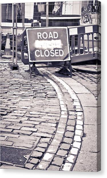 Renovation Canvas Print - Road Closed by Tom Gowanlock