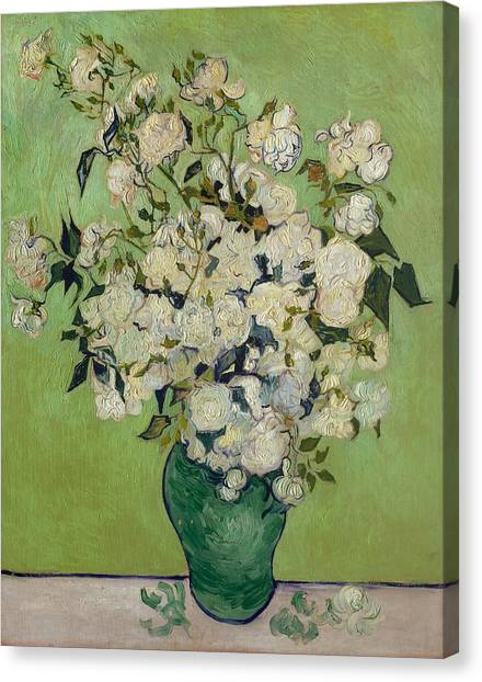 The Metropolitan Museum Of Art Canvas Print - Roses by Vincent van Gogh