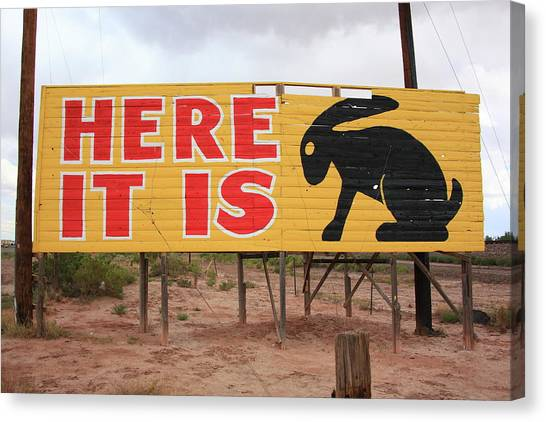 Historic Route 66 Canvas Print - Route 66 - Jack Rabbit Trading Post by Frank Romeo