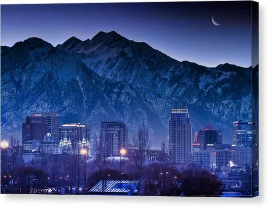 Salt Lake City Utah Skyline Canvas Print