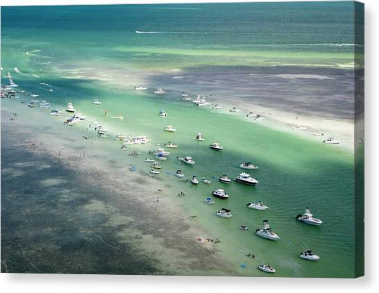 Seaplanes Canvas Print - Sandbar by Mike Theiss/science Photo Library