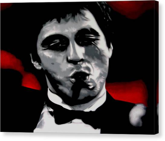 Scarface Canvas Print - Scarface 2013 by Luis Ludzska