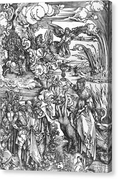 Angel Falls Canvas Print - Scene From The Apocalypse by Albrecht Durer or Duerer