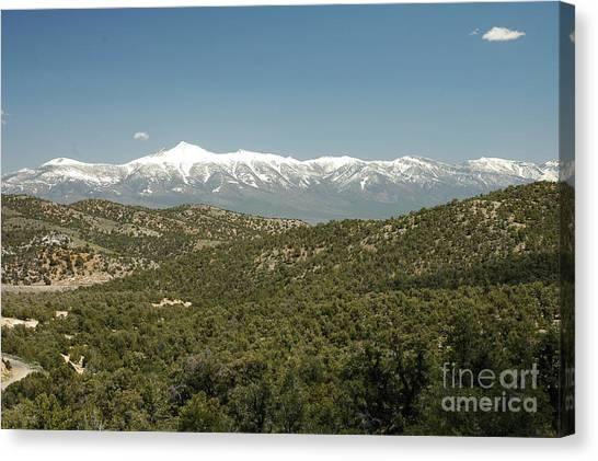 611p Schell Creek Range Nv Canvas Print