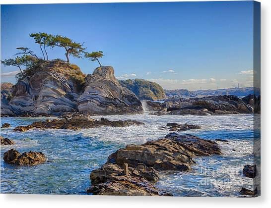 Sea Side Canvas Print by Tad Kanazaki