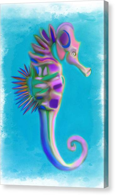 The Pretty Seahorse Canvas Print