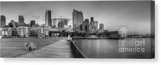 Seattle Skyline Canvas Print - Seattle Skyline by Twenty Two North Photography