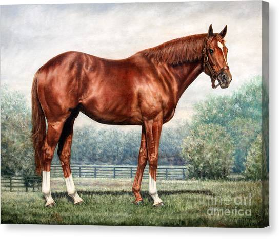 Thoroughbreds Canvas Print - Secretariat by Thomas Allen Pauly