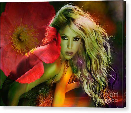 Shakira Canvas Print - Shakira by Marvin Blaine