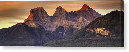 3 Sisters Canmore Alberta Canvas Print