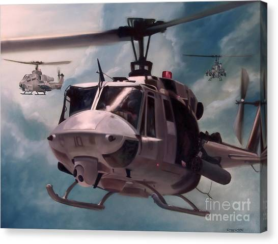 Aviators Canvas Print - Skid Kids by Stephen Roberson