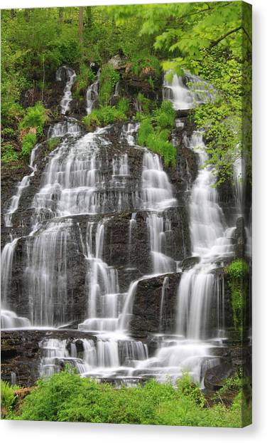 Sunderland Canvas Print - Slatestone Brook Falls  by John Burk