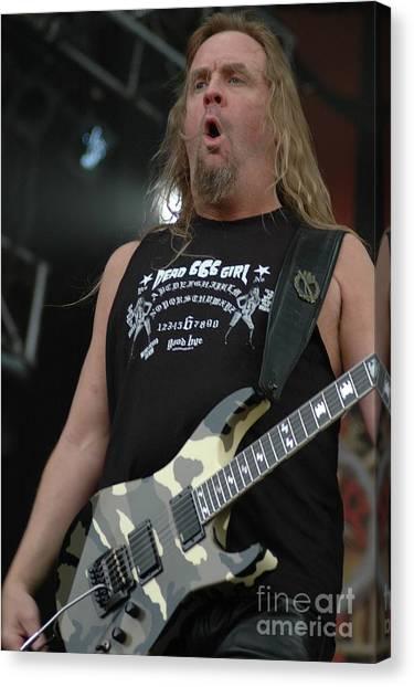 Jeff Hanneman Canvas Print - Slayer Jeff Hanneman by Jenny Potter